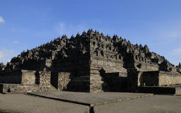 borobudur yogyakarta ναών Στοκ Φωτογραφίες