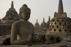 borobudurbuddha staty Arkivfoto