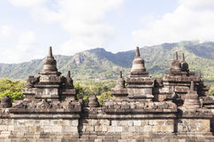 Borobudurerfenis in Yogyakarta, Indonesië royalty-vrije stock afbeelding