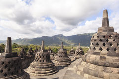 Borobudurerfenis in Yogyakarta, Indonesië royalty-vrije stock foto