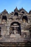borobudurindonesia java tempel royaltyfria bilder