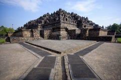 borobudurindonesia java tempel royaltyfri bild