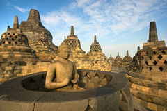 borobudurindonesia java tempel yogyakarta Royaltyfri Fotografi