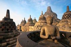 borobudurindonesia java tempel yogyakarta Royaltyfria Foton