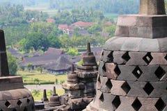 borobudurindonesia java tempel yogyakarta Fotografering för Bildbyråer