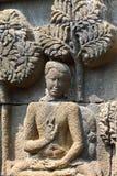 borobudurindonesia java tempel yogyakarta Royaltyfri Foto