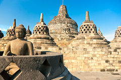 borobudurindonesia java tempel yogyakarta arkivbild