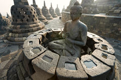 borobudurindonesia java tempel yogyakarta Royaltyfria Bilder
