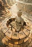 borobudurindonesia java tempel yogyakarta Arkivfoto