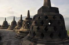 borobudurindonesia tempel Royaltyfri Bild