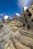 borobudurindonesia tempel Arkivfoton