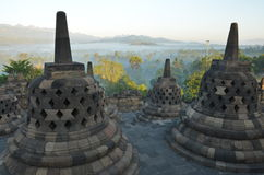 BorobudurJava2. Borobudur Buddhist Temple in Magelang Central Java Stock Images