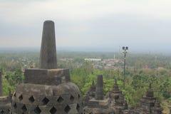 Borobudurs Stupa Stockfotos