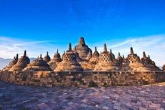 Borobudurtempel dichtbij Yogyakarta Stock Afbeeldingen