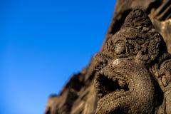 Borobudurzonsopgang, Java Royalty-vrije Stock Foto's