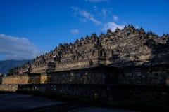 Borobudurzonsopgang, Unesco-de plaats van de werelderfenis Royalty-vrije Stock Afbeeldingen