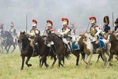 Borodino争斗历史再制定在俄罗斯 免版税库存图片