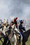 Borodino争斗历史再制定在俄罗斯 免版税库存照片