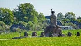 Borodino域 对Sivers骑兵军的纪念碑 免版税库存照片