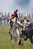 Borodino的法国军队战士胸甲骑兵在俄罗斯作战历史再制定 图库摄影