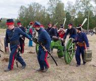 BORODINO,争斗,莫斯科地区,俄罗斯 库存照片