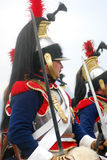 Borodino 2012历史再制定 库存照片