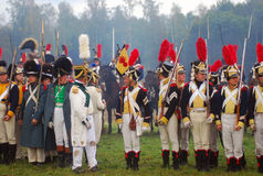 Borodino 2012 historical reenactment Stock Images