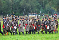 Borodino 2012 historical reenactment Stock Photo