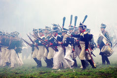Borodino 2012 historical reenactment Royalty Free Stock Photography