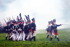 Borodino 2012 historical reenactment Royalty Free Stock Photos