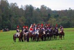 Borodino 2012 historical reenactment Royalty Free Stock Photography