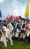 Borodino 2012 historische Wiederinkraftsetzung Lizenzfreie Stockbilder
