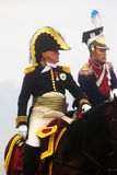Borodino 2012 historische Wiederinkraftsetzung Stockfotos