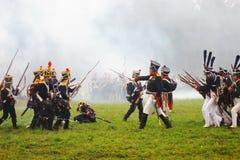 Borodino 2012 historische Wiederinkraftsetzung Lizenzfreie Stockfotografie