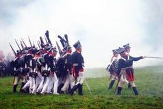 Borodino 2012 historische Wiederinkraftsetzung Lizenzfreie Stockfotos