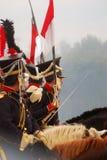 Borodino 2012 historiska reenactment Arkivbilder