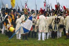 Borodino 2012 historiska reenactment Royaltyfria Bilder