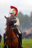 Borodino 2012 historiska reenactment Arkivfoto