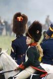 Borodino batalistyczny dziejowy reenactment w Rosja, kobieta portret Obraz Royalty Free