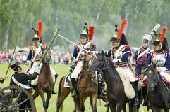Borodino battle. Cavalry atack Royalty Free Stock Photos