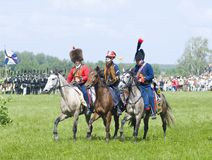 Borodino battle. Cavalry wariors Royalty Free Stock Image