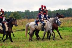 Borodino battle historical reenactment in Russia Stock Images