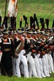Borodino battle historical reenactment in Russia Royalty Free Stock Photos