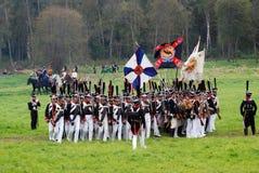 Borodino battle historical reenactment in Russia Royalty Free Stock Photography