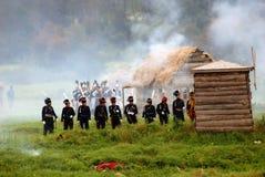 Borodino battle historical reenactment in Russia Royalty Free Stock Photo