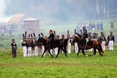Borodino battle historical reenactment in Russia Royalty Free Stock Image