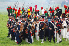 Borodino battle historical reenactment in Russia Royalty Free Stock Photography