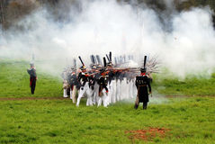 Borodino battle historical reenactment in Russia Stock Photography