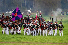 Borodino battle historical reenactment in Russia Stock Images