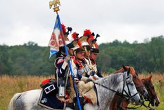 Borodino battle historical reenactment in Russia Stock Photos